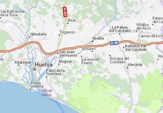 Lucena del Puerto Map