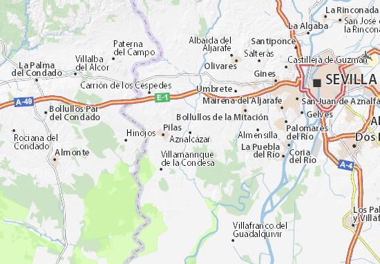 Aznalcázar Map