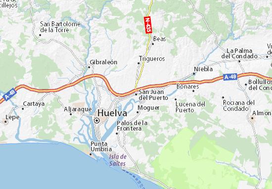 Mapa San Juan del Puerto