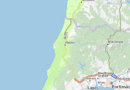 Karte Stadtplan Aljezur