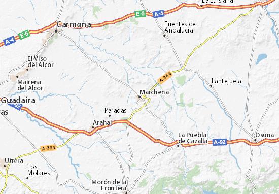 Mapa Marchena  plano Marchena  ViaMichelin
