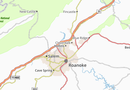Hollins Map
