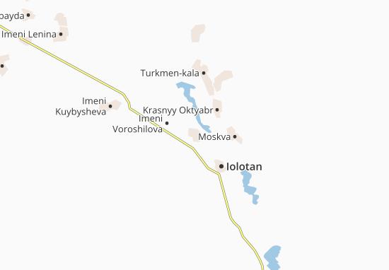 Mapa Plano Khuzeye-beden