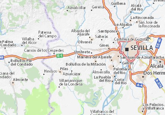 Benacazón Map
