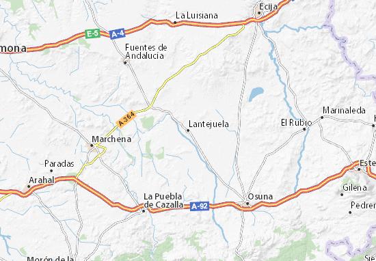 Mapa Lantejuela  plano Lantejuela  ViaMichelin
