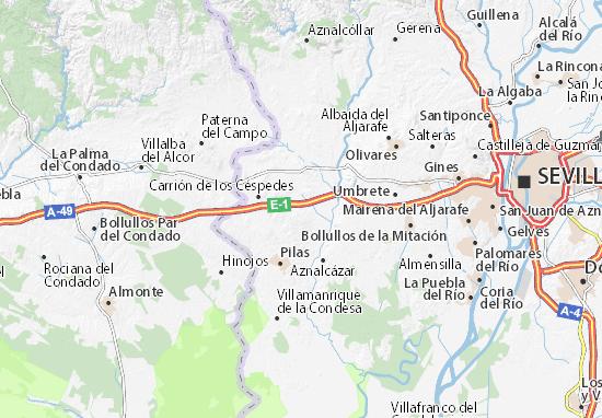 Huévar del Aljarafe Map