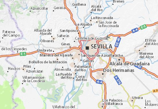 San Juan de Aznalfarache Map