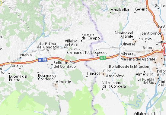 Chucena Map