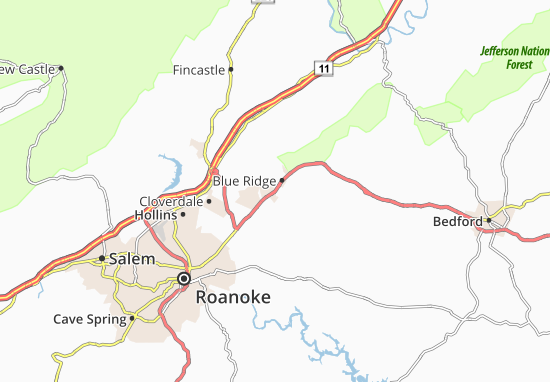 Blue Ridge Map