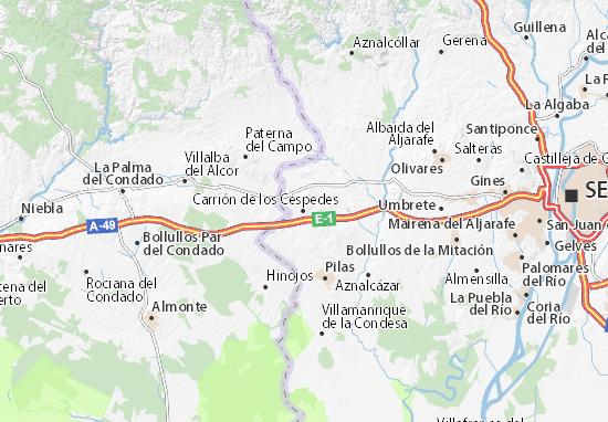 Carrión de los Céspedes Map