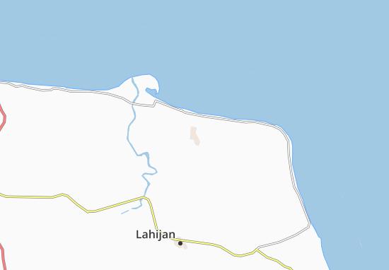 Kaart Plattegrond Lesku Kalayeh