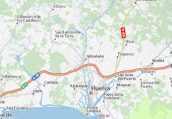 Gibraleón Map