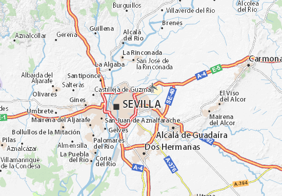 Seville Map: Detailed maps for the city of Seville - ViaMichelin