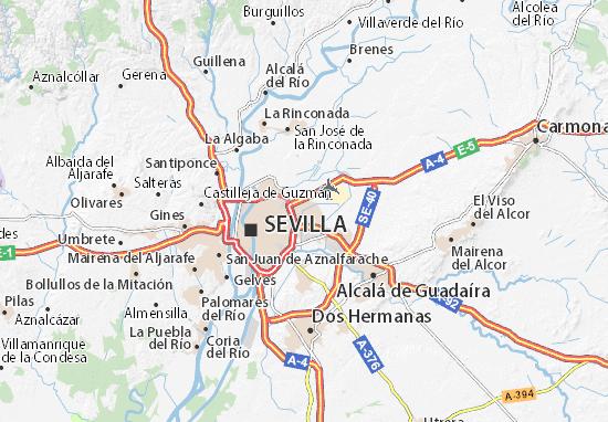 Seville Map Detailed Maps For The City Of Seville Viamichelin