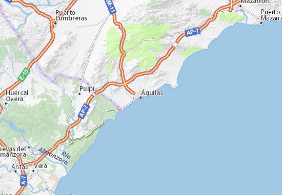 Águilas Map