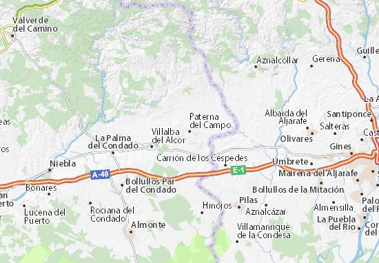 Paterna del Campo Map