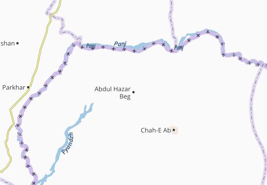Carte-Plan Abdul Hazar Beg