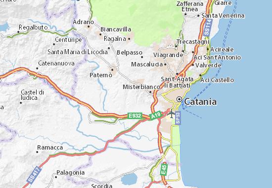 Motta Sant'Anastasia Map