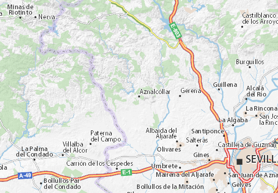 Aznalcóllar Map