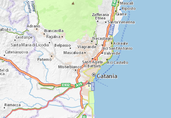 Mappe-Piantine Gravina di Catania