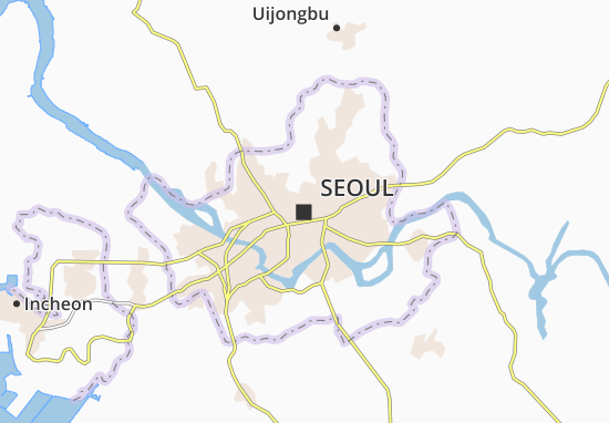 All ViaMichelin for Seoul. Map of Seoul   Michelin Seoul map   ViaMichelin