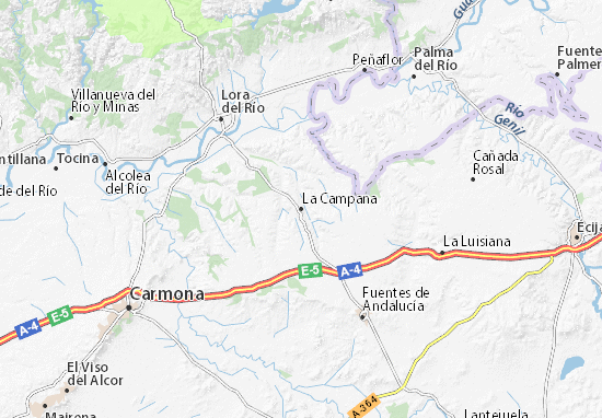 Mapa La Campana  plano La Campana  ViaMichelin