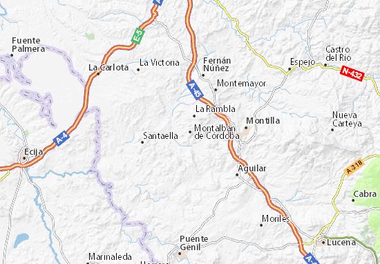 Montalbán de Córdoba Map