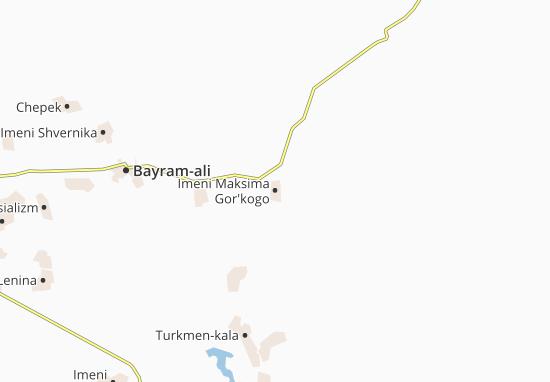 Mapa Plano Imeni Maksima Gor'kogo