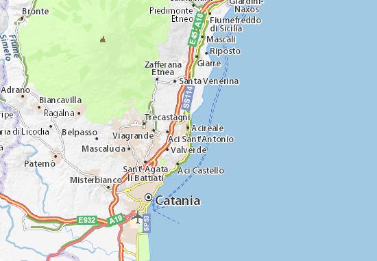 Aci Sant' Antonio Map