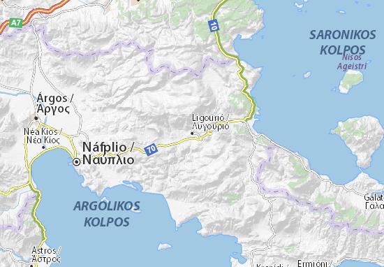 Ligourió Map