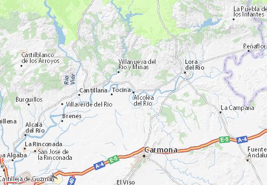 Carte-Plan Alcolea del Río