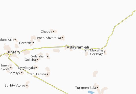 Mapa Plano Bayram-ali