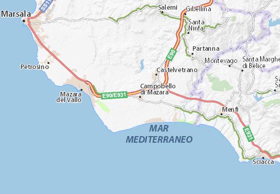 Carte-Plan Campobello di Mazara