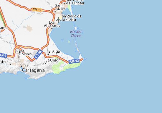 Mar Menor Mapa Fisico.Mapa La Manga Del Mar Menor Plano La Manga Del Mar Menor