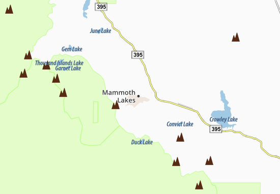 Mammoth Lakes Map: Detailed maps for the city of Mammoth Lakes ...