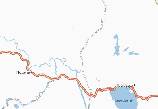 Kaart Plattegrond Kitakata