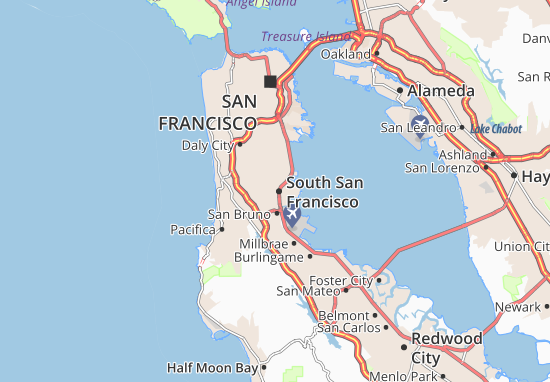 South San Francisco Map