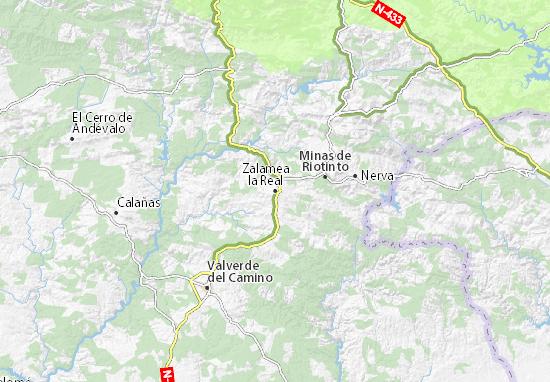 Zalamea La Real Mapa.Mapa Zalamea La Real Plano Zalamea La Real Viamichelin