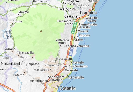 Santa Venerina Map