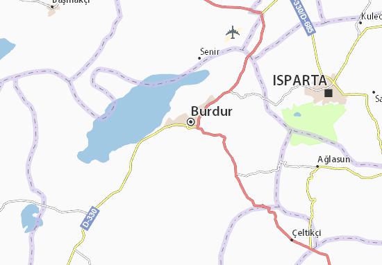 Burdur Map