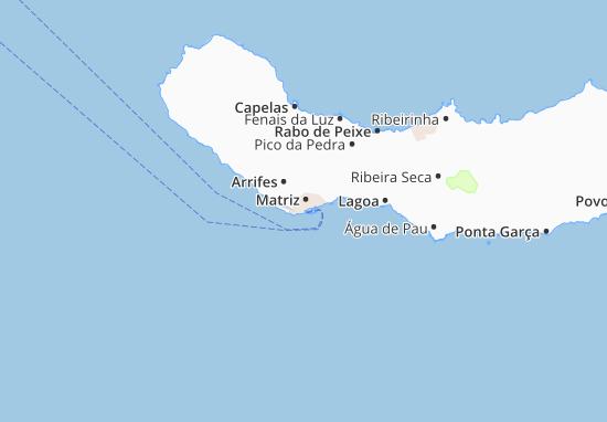 mapa ponta delgada Mapa Ponta Delgada   plano Ponta Delgada  ViaMichelin mapa ponta delgada