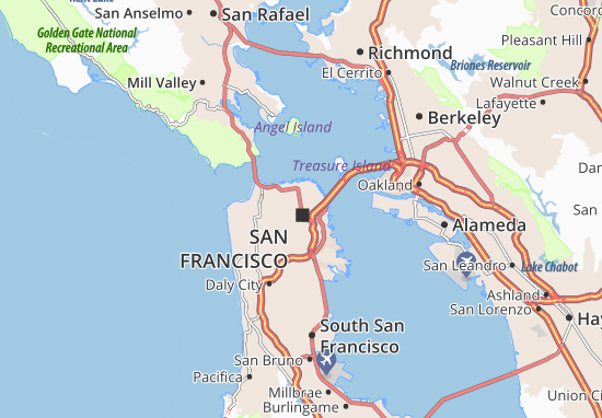 San Francisco Map: Detailed maps for the city of San ...