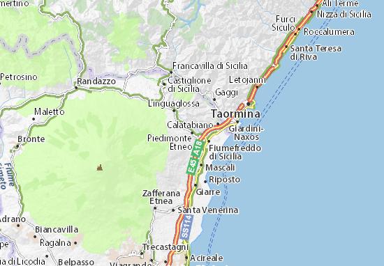 Piedimonte Etneo Map