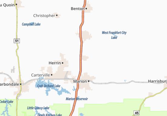 Johnston City Map