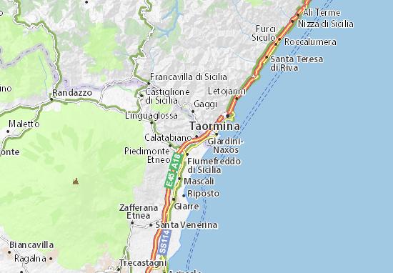 Calatabiano Map