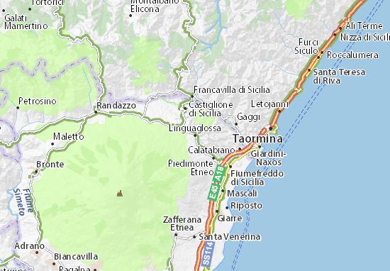 Linguaglossa Map
