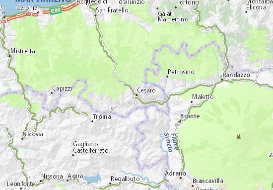 Cesarò Map
