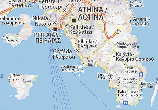 Voúla Map