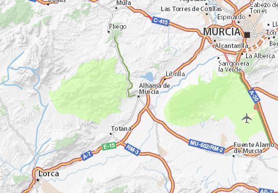 Mapa Alhama De Granada.Mapa Alhama De Murcia Plano Alhama De Murcia Viamichelin