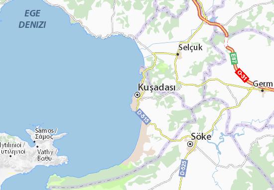Carte Turquie Kusadasi.Carte Detaillee Kusadasi Plan Kusadasi Viamichelin